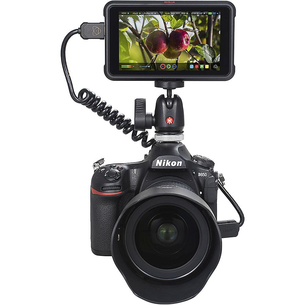 Atomos Ninja V 4Kp60 10bit HDR Daylight Viewable 1000nit Portable Monitor//Recorder Starters Bundle