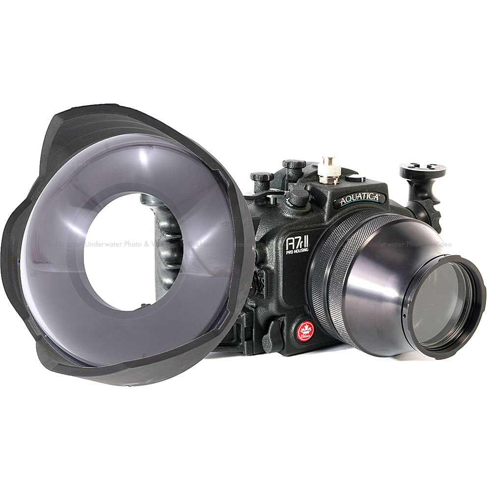 Aquatica a7II Underwater Housing Wide & Macro Package for Sony a7 II, a7R II, a7S II Mirrorless Cameras with Sony 16-35mm f/4 & 90mm Macro Lenses