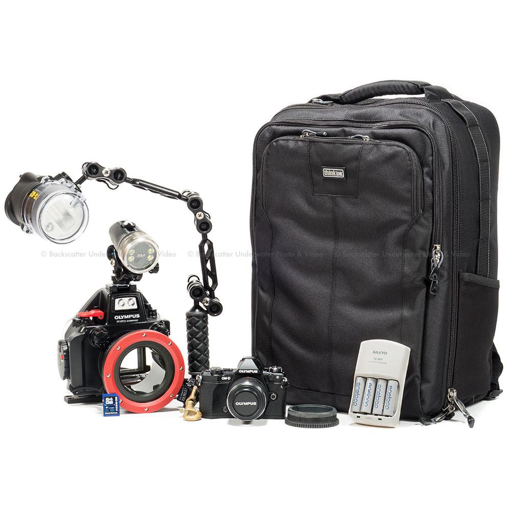 Olympus E-M5 II Camera, Lens, PT-EP13 Underwater Housing, Strobe, Light & Case Package