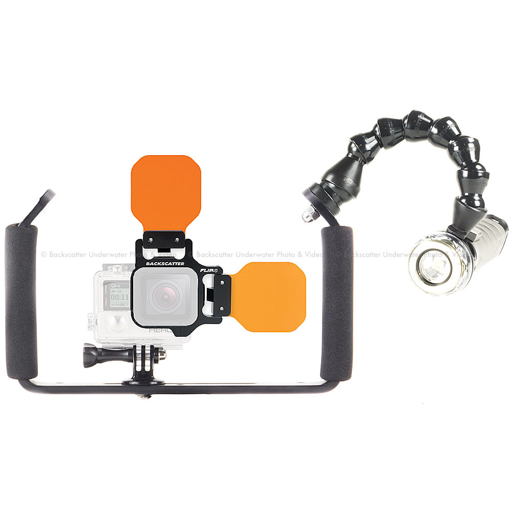 FLIP5 Bluewater Filter Combo Package with Light & Motion GoBe 850 Video Light for GoPro 3, 3+, 4 & 5