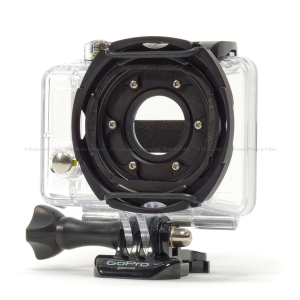 Backscatter Custom GoPro Underwater Housing With Glass Lens And Removable Filter Mount