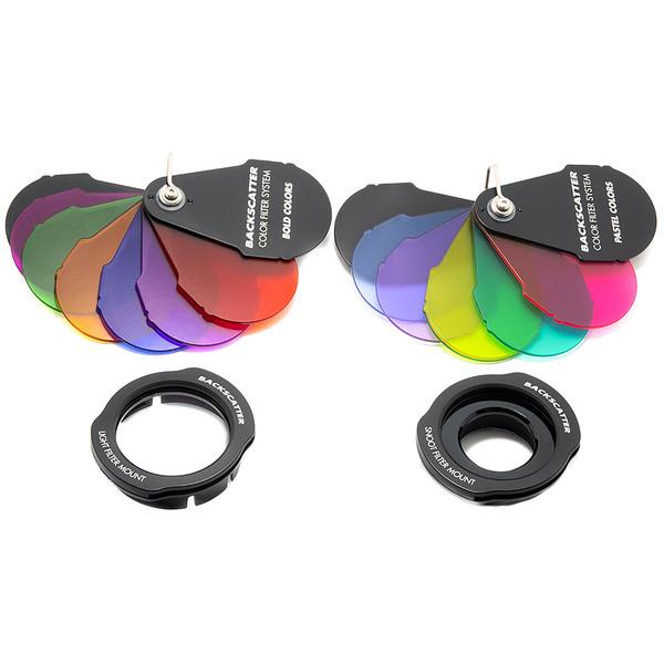 Backscatter Color Filter System Full Bundle for Mini Flash MF-1, Macro Wide MW-4300 Light & OS-1 Optical Snoot