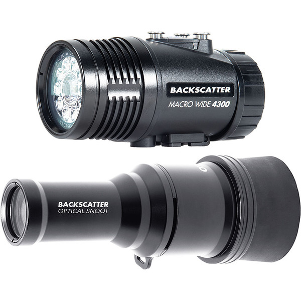 Backscatter MW-4300 & OS-1 Underwater Video Light & Snoot Package