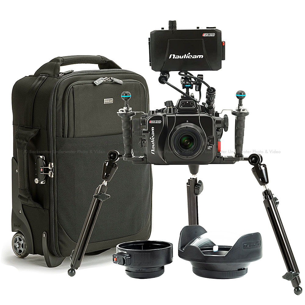 Nauticam NA-GH5 Underwater Cinema Housing Package for Panasonic GH5 & GH5s Mirrorless Camera with Olympus 7-14mm & 60mm Lenses