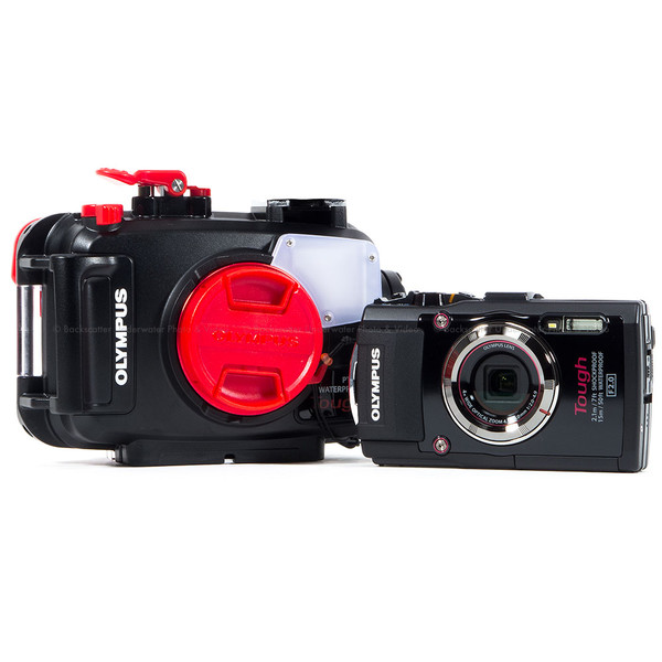 Olympus Tough TG-4 Waterproof Compact Black Camera & Olympus PT-056 Underwater Housing