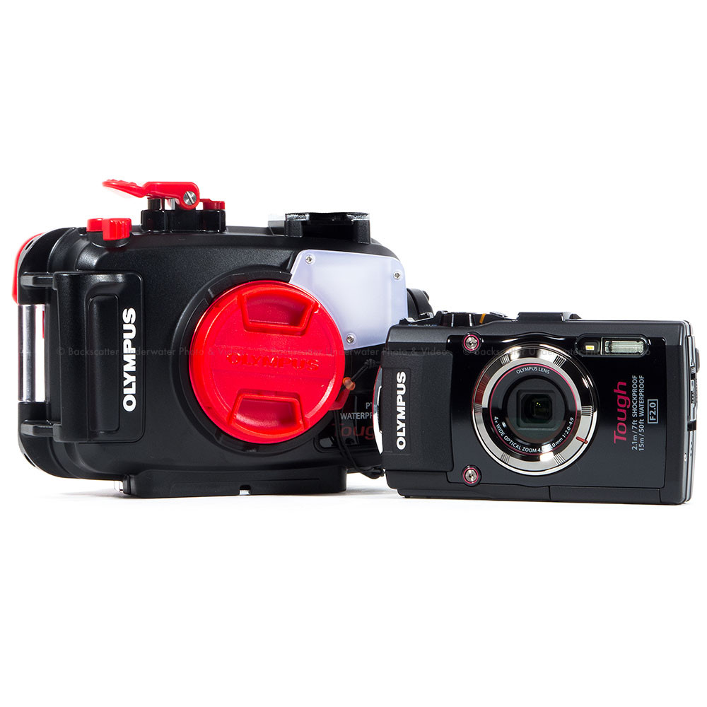 Olympus Tough TG-4 Waterproof Compact Black Camera & Olympus PT-056 Underwater Housing