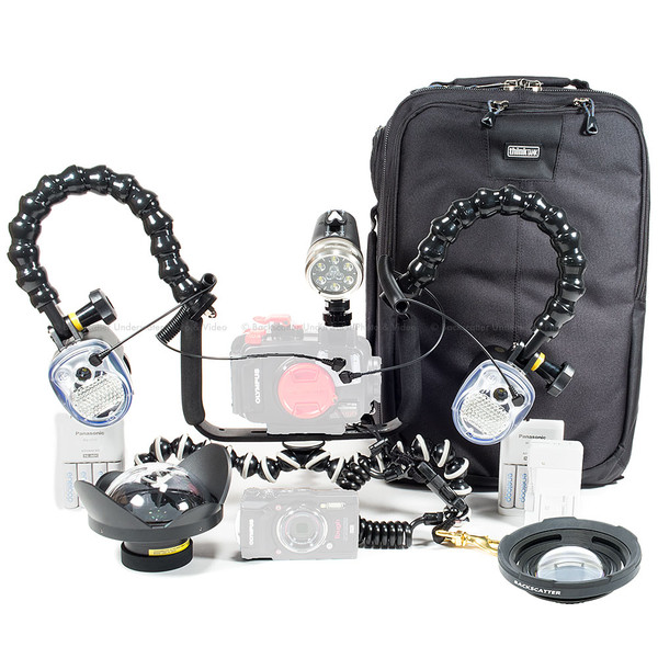 Olympus TG-5 Camera, Housing, Video Light and Dual Strobe Complete Package