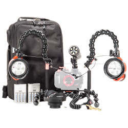 Complete Underwater Strobe & Video Light Package for Olympus TG-5 & Housing