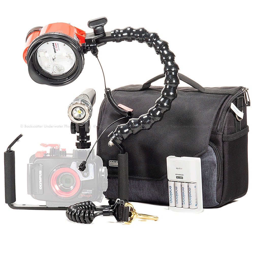 Video Light and Strobe Travel Package for Olympus TG-5 Camera and Housing