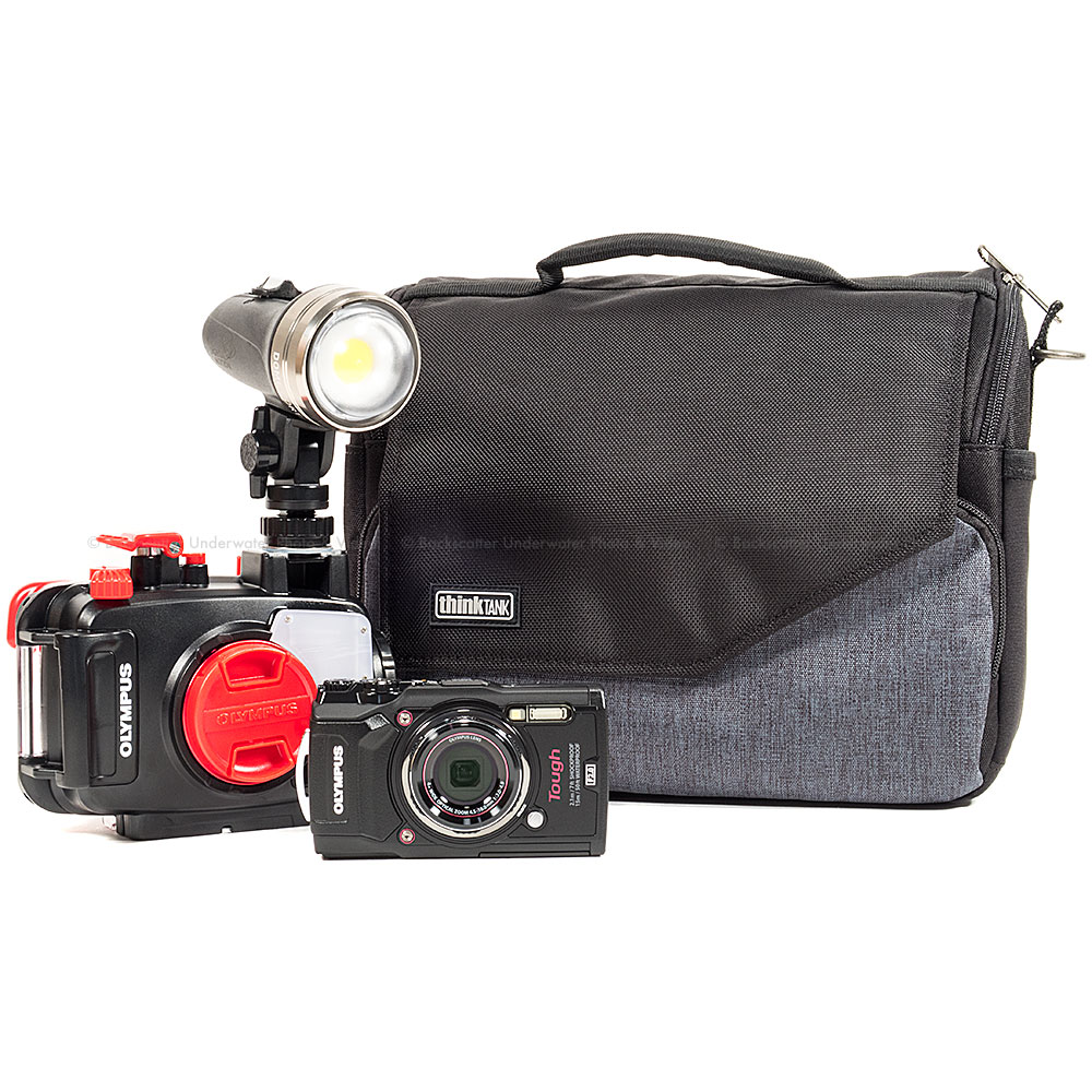 Olympus TG-5 Camera, Housing, and Sola Video Light Simple Package