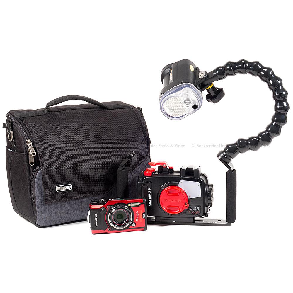 Olympus TG-5 Camera, Housing and Sea & Sea YS-03 Strobe Pack