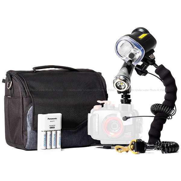 Olympus TG-5 Camera, Housing, Video Light and Strobe Travel Package