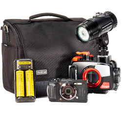 Olympus TG-6, PT-059 Housing & MW-4300 Underwater Video Light Package