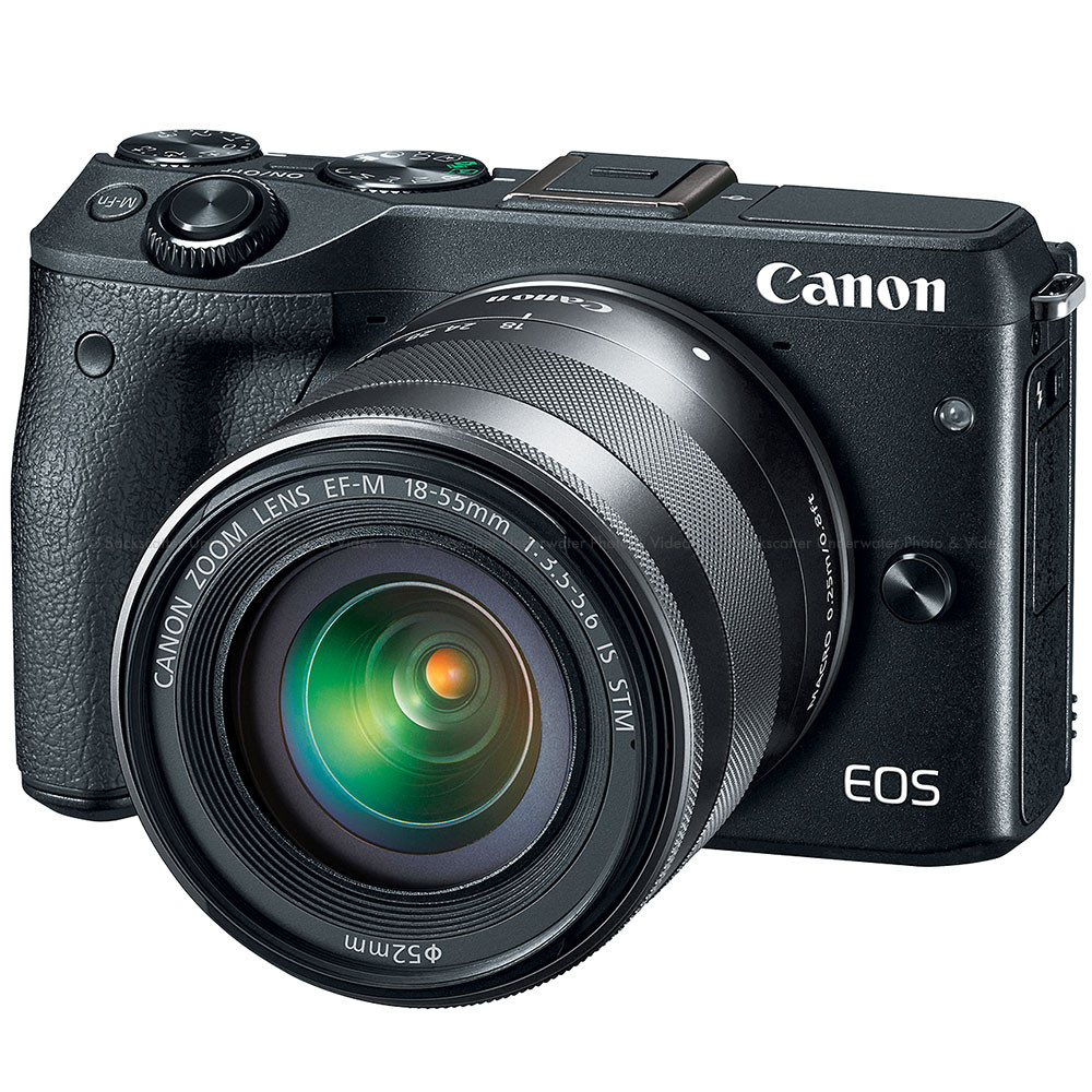 Canon EOS M3 EF-M 18-55mm IS STM Kit Black