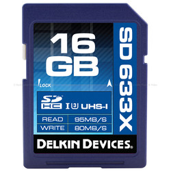 Delkin BEST: 16GB SDHC 633X UHS-I SD MEMORY CARD