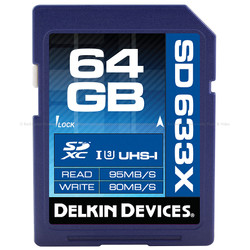Delkin BEST: 64GB SDXC 633X UHS-I SD MEMORY CARD