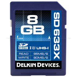 Delkin BEST: 8GB SDHC 633X UHS-I SD MEMORY CARD