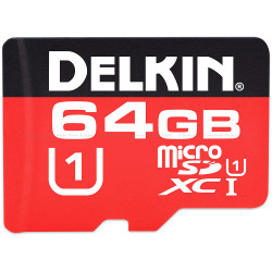 Delkin Devices 64GB 500x microSDHC UHS-I Memory Card