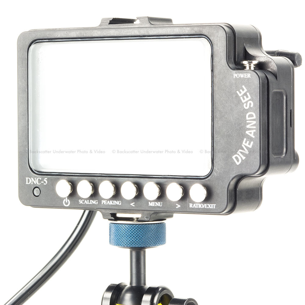 Dive & See DNC-5 5 inch Underwater monitor with HDMI Input and Peaking focus