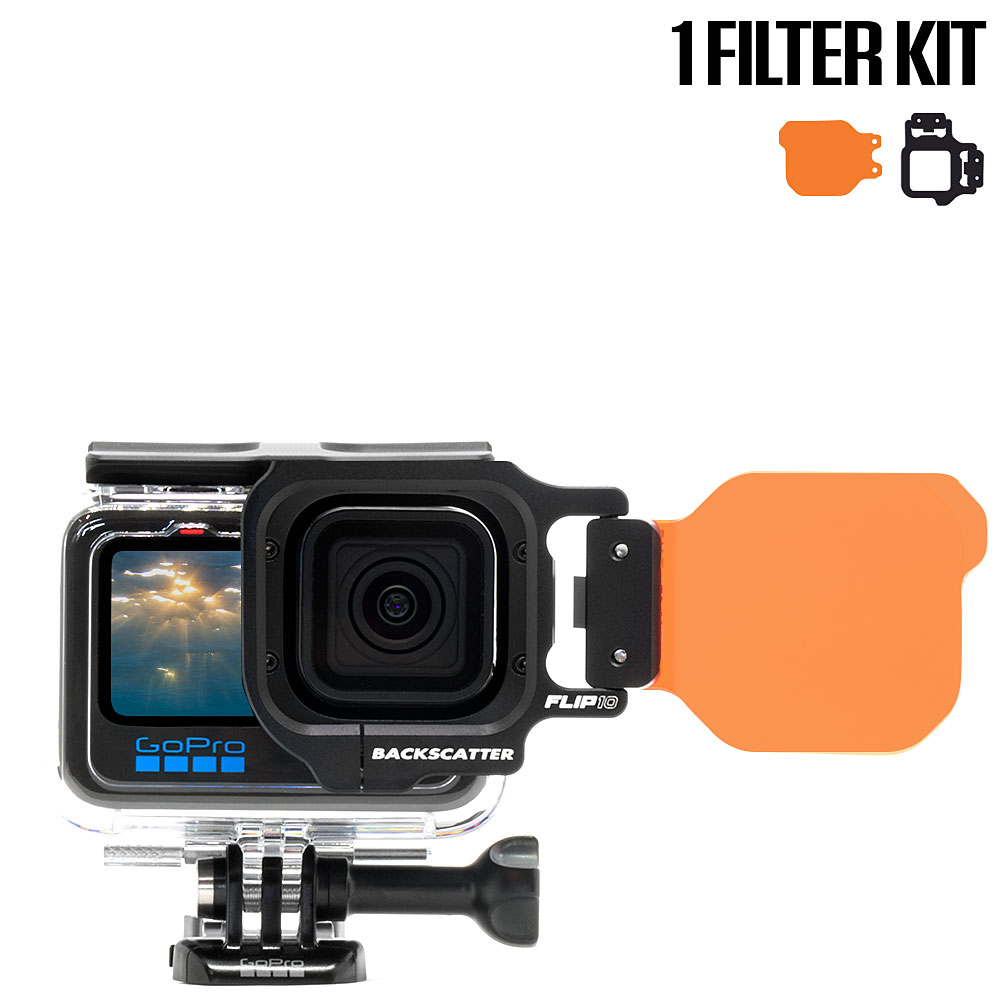 FLIP9 One Filter Kit with DIVE Filter for GoPro 5, 6, 7, 8, 9