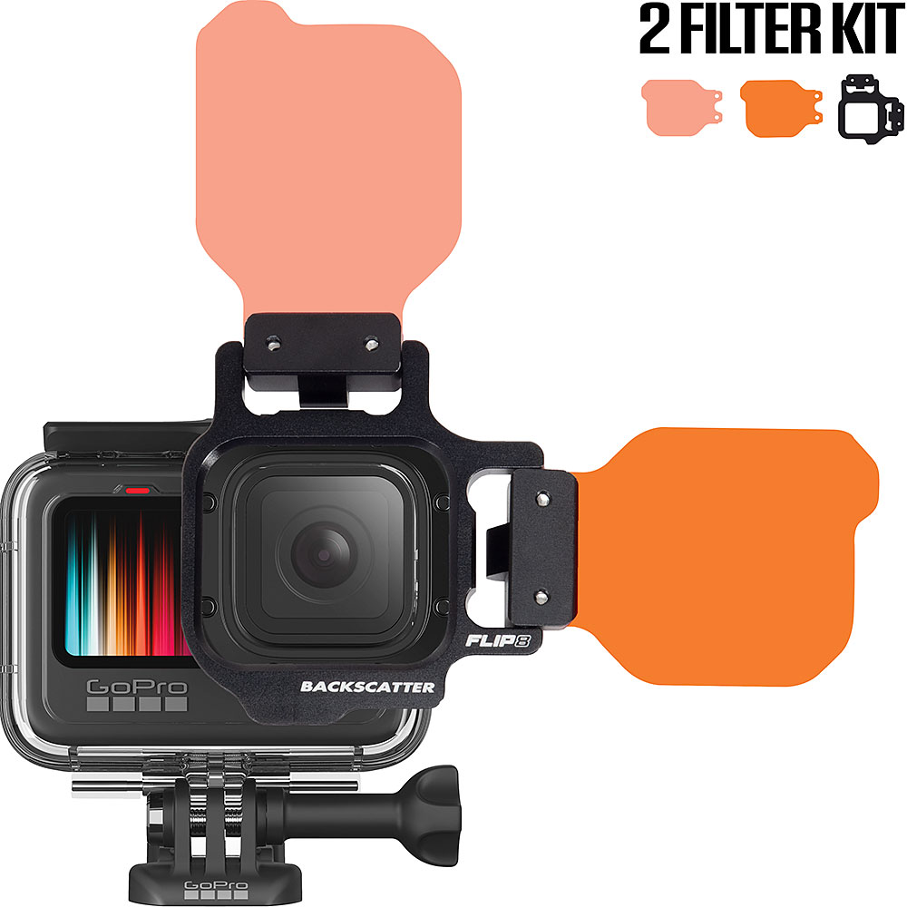 Flip8 9 Two Filter Kit With Shallow Dive Filters For Gopro 5 6 7 8 9