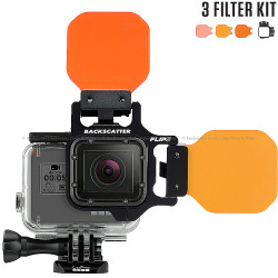 FLIP5 Three Filter Kit with SHALLOW, DIVE & DEEP Filters for GoPro 3, 3+, 4, 5