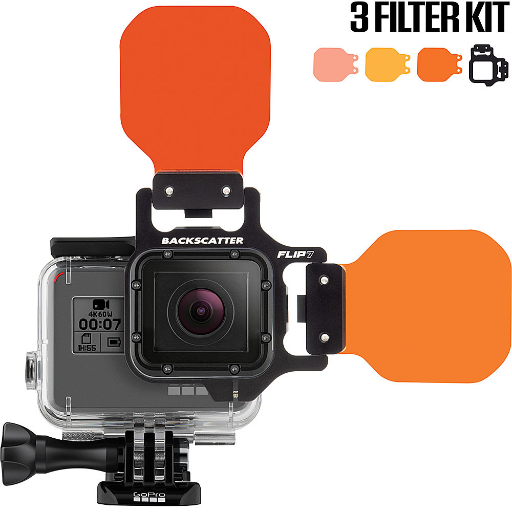 FLIP7 Three Filter Kit with SHALLOW, DIVE & DEEP Filters for GoPro 3, 3+, 4, 5, 6, 7