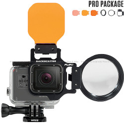FLIP5 Pro Package with SHALLOW, DIVE & DEEP Filters & +15 MacroMate Mini Lens for GoPro 3, 4, 5, 6