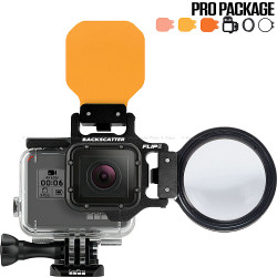 FLIP6 Pro Package with SHALLOW, DIVE & DEEP Filters & +15 MacroMate Mini Lens for GoPro 3, 4, 5, 6