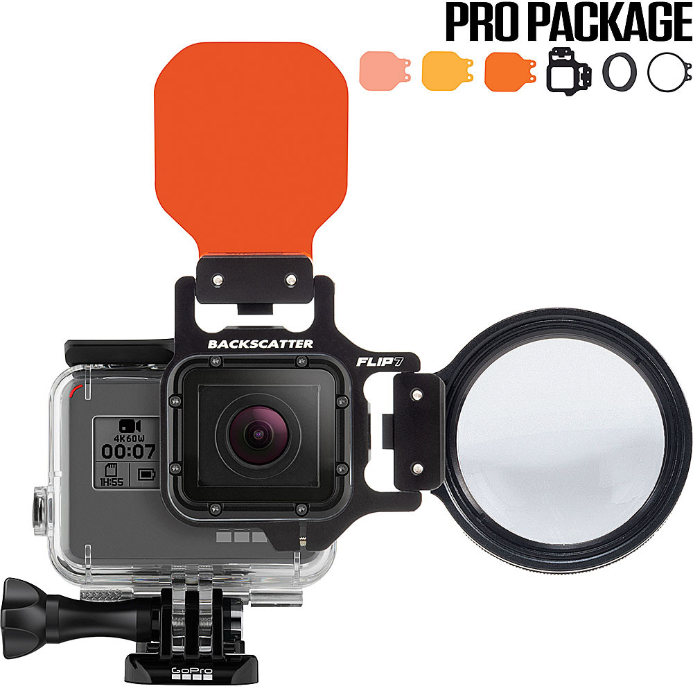 FLIP7 Pro Package with SHALLOW, DIVE & DEEP Filters & +15 MacroMate Mini Lens for GoPro 3, 3+, 4, 5, 6, 7