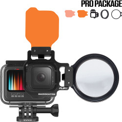FLIP8 Pro Package with SHALLOW & DIVE Filters & +15 MacroMate Mini Lens for GoPro HERO 5, 6, 7, 8, 9