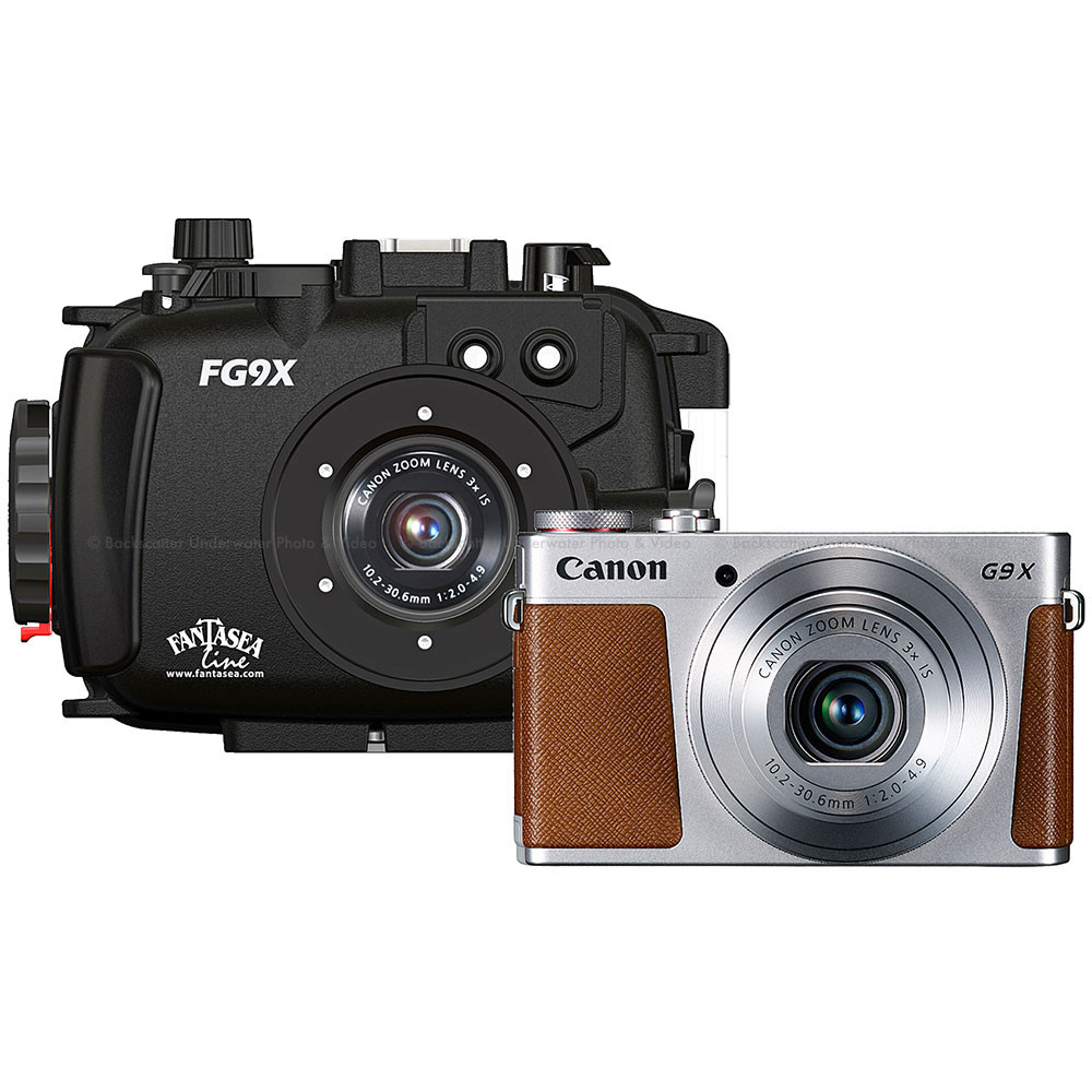 Fantasea FG9X Underwater Housing & Canon G9 X Silver Camera Set