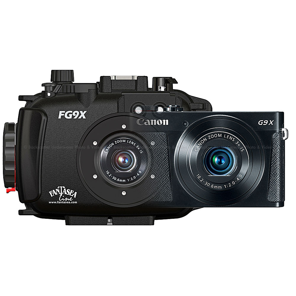 Fantasea FG9X Underwater Housing & Canon G9 X Black Camera Set