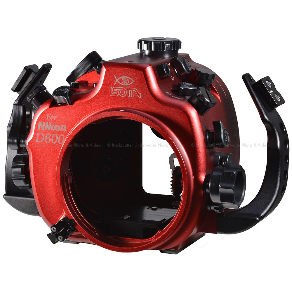 Isotta D610 Underwater Housing for Nikon D610 Cameras with Nikonos Bulkheads