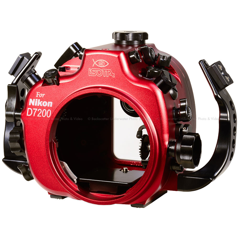 Isotta D7200 Underwater Housing for Nikon D7100 & D7200 Cameras with Nikonos Bulkheads