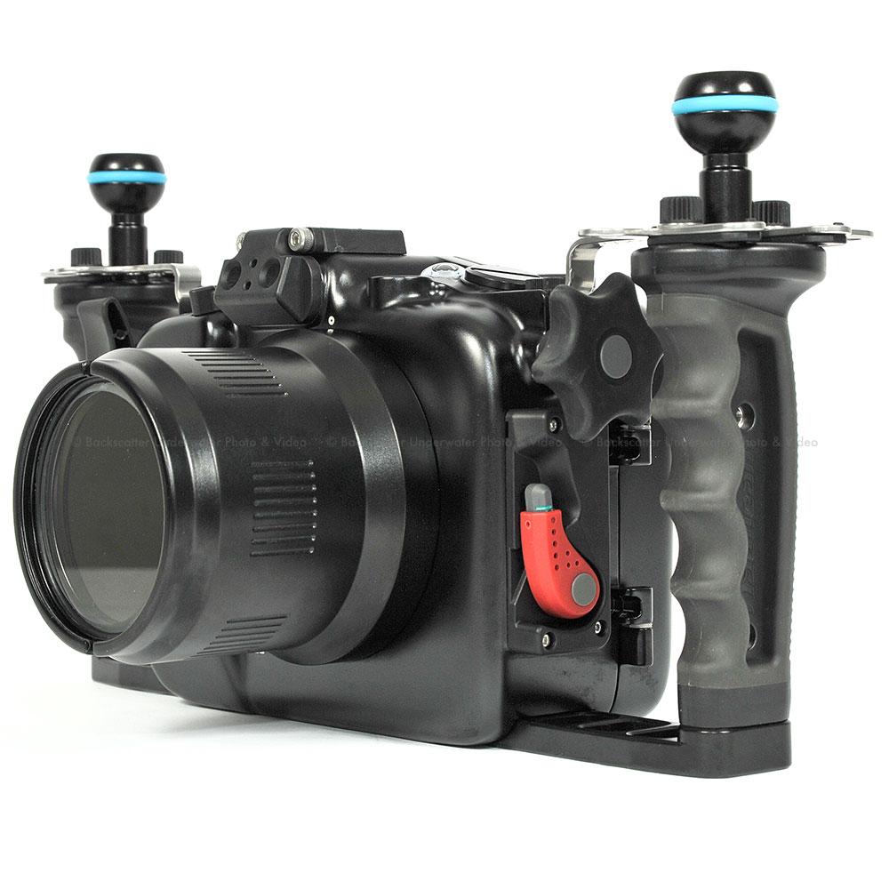 sony a6500. nauticam na-a6500 underwater housing for sony a6500 mirrorless 4k camera
