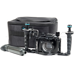 Nauticam NA-RX100V Underwater Housing, Dual Handle & Vacuum Package