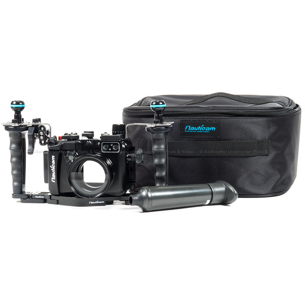 Nauticam NA-LX10 Underwater Housing, Dual Handle & Vacuum Package for Panasonic LX10 Compact Camera