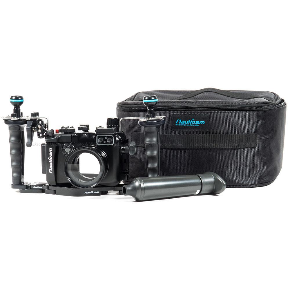 Nauticam NA-LX10 Underwater Housing, Dual Handle & Vacuum Package for Panasonic LX10 Compact Camera