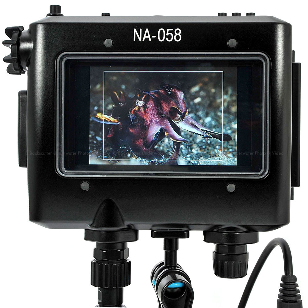 Nauticam NA-058 Underwater Housing for TV Logic VFM-058W 5.5inch Full HD Monitor