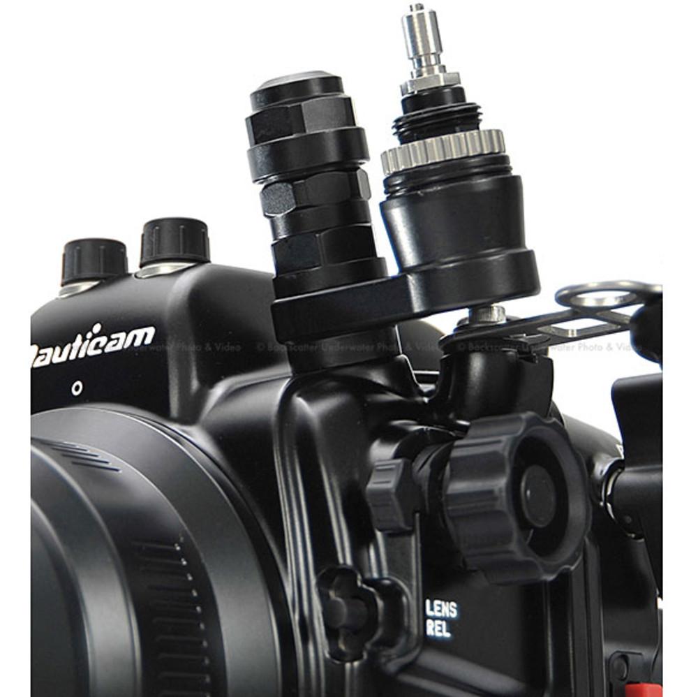 Nauticam Vacuum Check and Leak Detection System: M16 Offset Connector with Dual Activation Vacuum Valve