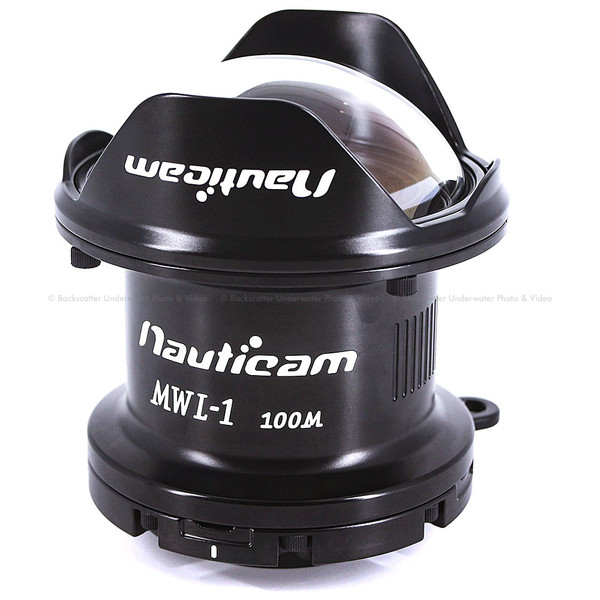 Nauticam MWL-1 Macro to Wide Angle Lens 1 150° FOV with Full Frame 60mm Macro Lens