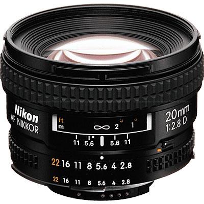 Nikon 20mm f2.8D AF Nikkor (62mm)