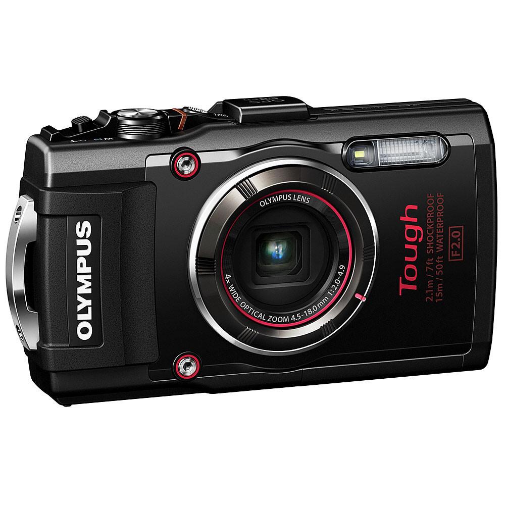 Olympus Tough TG-4 iHS Waterproof Compact Camera - Black - Backscatter