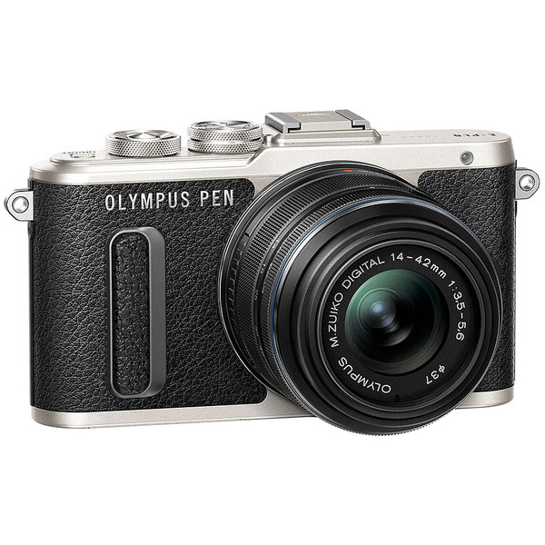 Olympus PEN E-PL8 Mirrorless Camera with 14-42mm II R Lens - Black