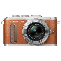 Olympus PEN E-PL8 Mirrorless Camera with 14-42mm II R Lens - Brown