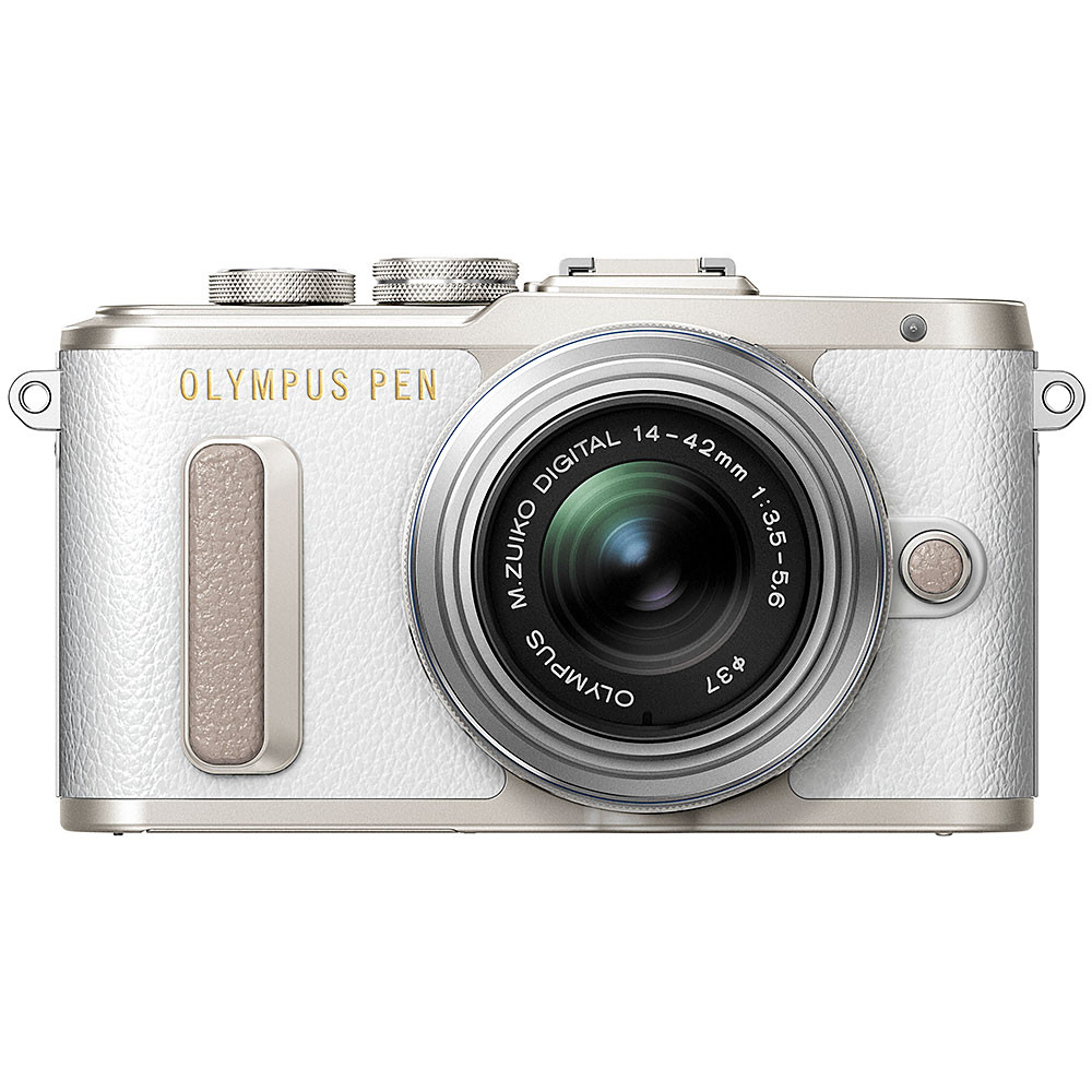 Olympus PEN E-PL8 Mirrorless Camera with 14-42mm II R Lens - White