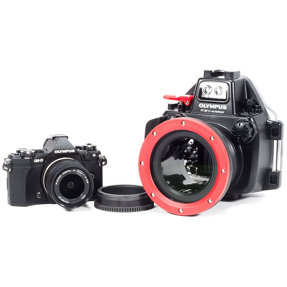 Olympus OM-D E-M5 II Camera, 9-18mm Lens, Zoom Gear & PT-EP13 Underwater Housing