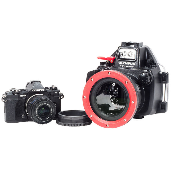 Olympus OM-D E-M5 II Camera, 14-42mm Lens, Zoom Gear & PT-EP13 Underwater Housing Bundle