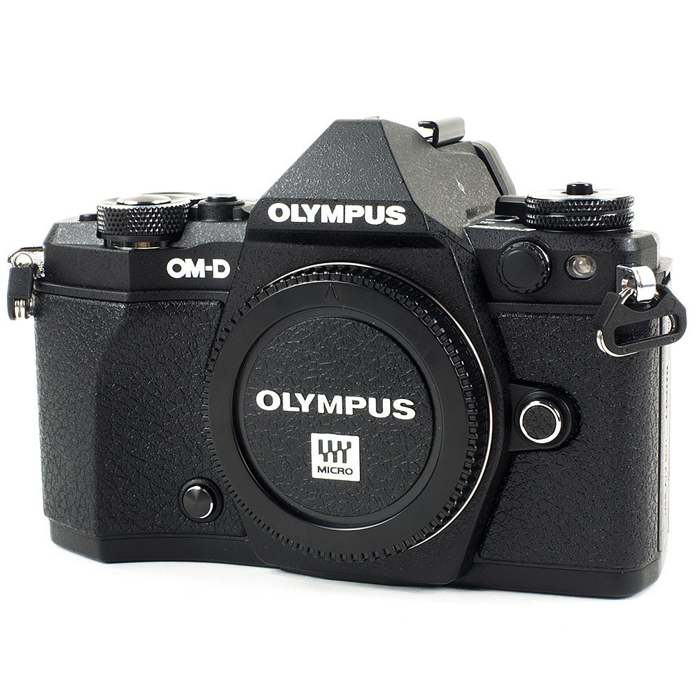 Semi cáscara estuche de cámara Olympus e-m5 II bolsa estuche imitación cuero negro cc1794a